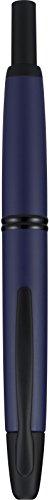 PILOT Vanishing Point Collection Pluma estilográfica recargable y retráctil, barril azul mate, punta de punta (60599)