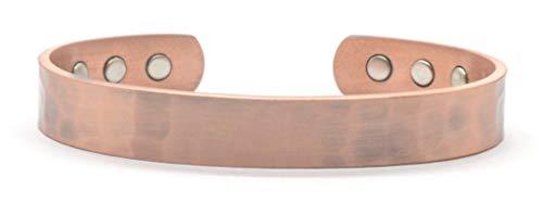 Bracelet magnétique en Cuivre, Effet Martelé, Antique, Vintage