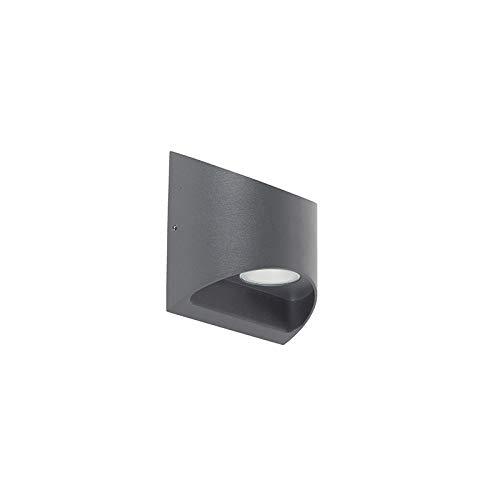 QAZQA Aplique exterior moderno gris oscuro LED IP54
