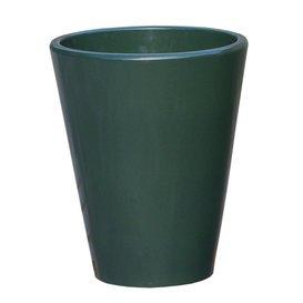 Gartentraum.de Frostsicheres Pflanzgefäß »Amphiro Olivam« rund aus Steinzeug in grün