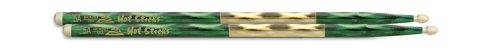 Hotsticks Macrolus - Bacchette per batteria 5A, con testa in legno, colore verde