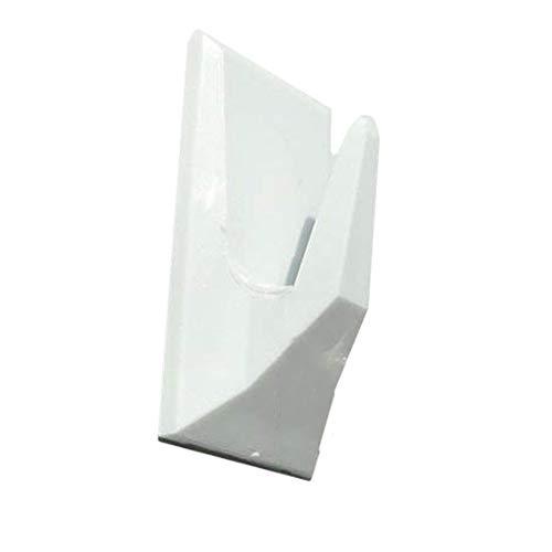 Set Selbstklebende Haken Weiß 4 Stück zum aufhängen von Mobile am Fensterrahmen Klebehaken Kunststoffhaken Handtuchhalter eckig