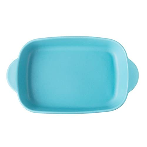 1 Piece Nordic Bakeware Binaural Baked Rice Bowl Baking Sheets Nonstick Oven Nonstick 10 Inches Blue