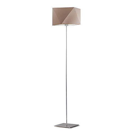 Lámpara de pie ANKARA Pantalla Beige Marco Plata