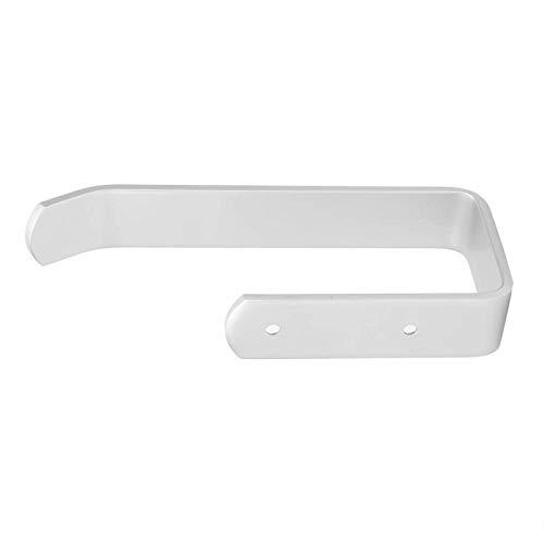 Porta carta igienica Porta asciugamani da bagno, Porta carta igienica Space Alumina Porta asciugamani Porta rotolo da appendere a parete(417032 Bianco)
