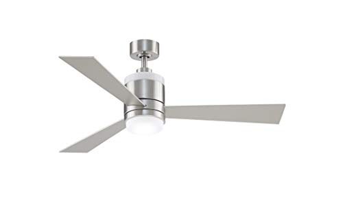 Fanimation Studio Collection LP8577LBN Upright Ceiling Fan with LED Light Kit, 48 Inch, Brushed Nickel with Black/Gray Reversible Blades