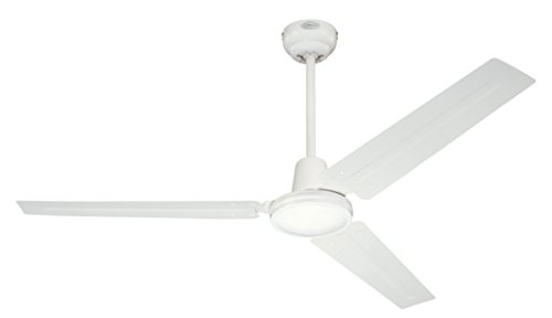Westinghouse Lighting, Ventilatore a soffitto Industrial, interruttore a parete, ciclo estate/inverno, Bianco, ø 142 cm 7226840