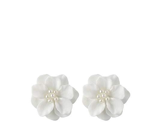 Mypace 925 Silber Gold Set Creolen hängende Ohrringe Für Damen Mode Schöne weiße Blume Perle Anhänger Kreis Ohrstecker Mode-Design