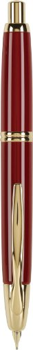 PILOT Vanishing Point Collection Refillable & Retractable Fountain Pen, Red Barrel with Gold Accents, Blue Ink, Medium Nib (60267)