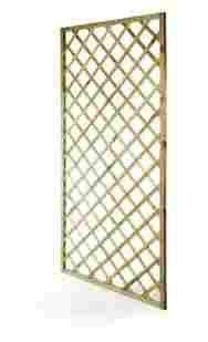 CABEX CO. s.r.l. – Pannello Grigliato Rettangolare Cm. 120x180 da Balcone, Terrazzo e Giardino, in Legno di Pino/Abete impregnato in Autoclave Modello [628/35]