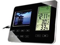 Hama Digitaler Bilderrahmen 8,9 cm (3,5 Zoll) mit Wetterstation Home & Living