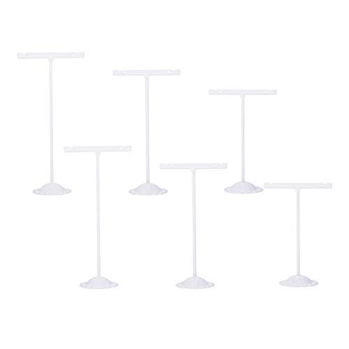 NBEADS 3 Pieza de Soporte de Joyería, T Bar Iron Earring Displays Sets Earring Display Stand Estante de Joyería de Metal para Collares, Gargantillas, Esposas, Exhibición de Pendientes (S/M/L)