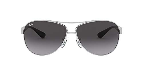 Ray-Ban RB3386 Aviator Sunglasses, Silver/Grey Gradient, 63 mm