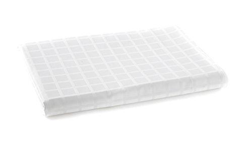 Blanc des Vosges Taie de Traversin Palace Blanc 90 x 190 cm - Satin jacquard 100% coton