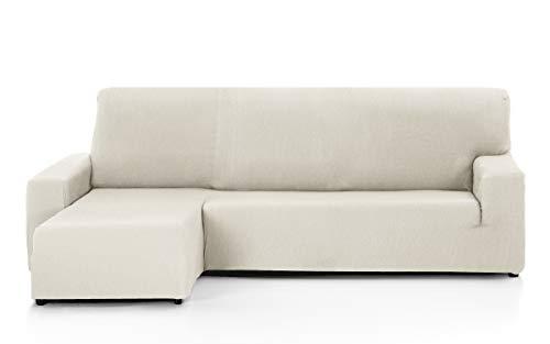 Martina Home Tunez Funda Sofá para Chaise Longue con Un Diseño Mode, Tela, Marfil, Brazo izquierdo corto