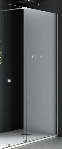 Mampara de Ducha Modelo BALE Color Cromado Plata Puerta Corredera Cristal Transparente 8MM Medida...