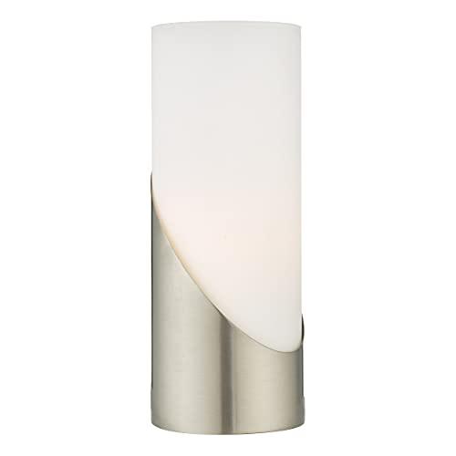 DAR FARIS - Lámpara de mesa cilíndrica táctil níquel satinado