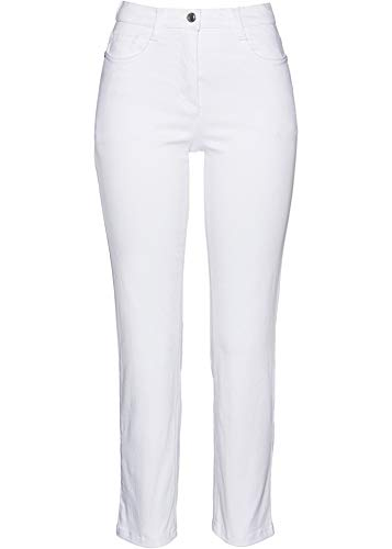 bonprix Vielseitig tragbare Stretchhose in 7/8-Länge weiß 7/8 Bein 42 für Damen