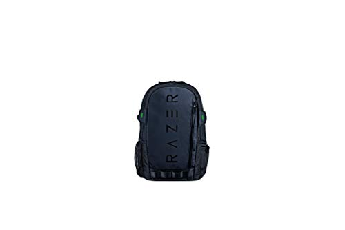 """Razer Rogue v3 15.6"""" Gaming Laptop Backpack: Tear & Water Resistant Exterior - Mesh Side Pocket for Water Bottles - Dedicated Laptop Compartment - Made to Fit 15 inch Laptops - Black"""