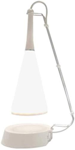 CNCDRS Inicio Iluminación Recargable Escritorio Lámpara Estudio Lectura Libros Libros para Lámparas de Mesa de Dormitorio Lámpara Táctil Tabla Lámpara Bluetooth Altavoz USB (Color : Blanco)