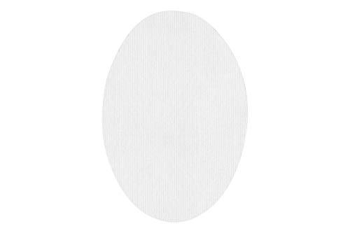 Rodilleras elásticas termoadhesivas para la ropa | Parches para reparar prendas. 6 Coderas o rodilleras de 9 x 13 cms. Color: Blanco