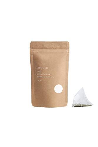ブレンド ハーブティー EDOBIO(エドビオ) グリーンティー スリム ティーバッグ 40g 2gx20包 ブルーベリー くにさと35号 合成着色料 合成香料 合成保存料不使用