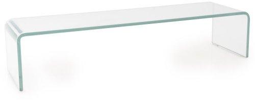 BHP TV Schrank-Aufsatz 90 cm Glas Fernsehtisch Glasplatte Glasaufsatz Glastisch Hagen B153085-1 transparent