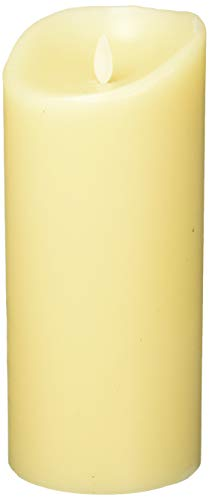 Luminara Flameless Vanilla Scented Moving Flame Candle With Timer (4'x9' Ivory)