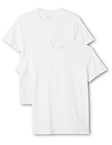 BOSS Herren T-Shirts T-Shirt RN 2P, 2er Pack, Weiß (White 100), Large