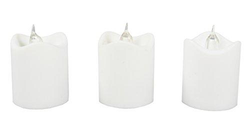 COM-FOUR® LED-kaarsen - voor een sfeervolle sfeer in uw woonkamer (03 stuks) (03 stuks - wit)