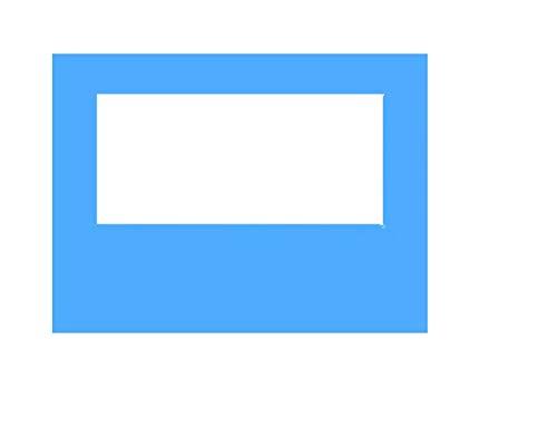 Sekey Seitenteile Seitenwände für Pavillon 3×3m, mit Fenster ohne Reißverschluss, Wasserdicht für Festzelt, Partyzelt, Blau