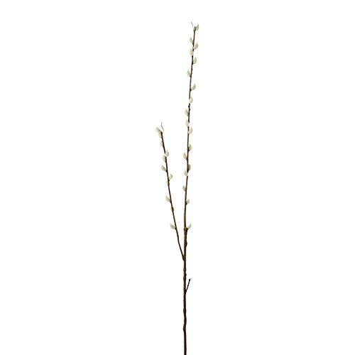 creativ home Künstlicher WEIDENKÄTZCHEN Zweig ca 100 cm. Palmkätzchen -Zweig mit 2 Trieben. 2019025-00