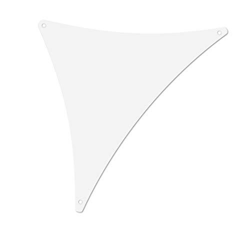 ALOHA Sonnensegel mit UV Schutz wasserabweisend Windschutz wetterschutz Garten und Terrasse (Weiß, Dreieck 1.5x1.5x2m)