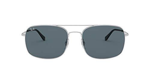 Ray-Ban 0RB3611 Gafas de sol, Silver, 59 Unisex