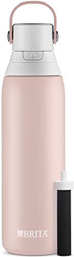 Brita Premium Filtering Water Bottle, 20 oz, Rose