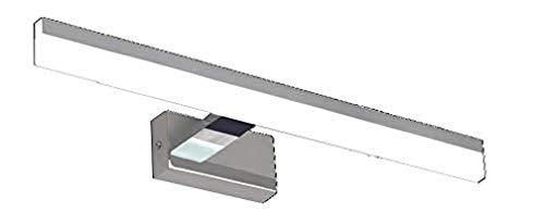 Aplique de espejo – Colección Gamma – Especial cuarto de baño – 32 cm – Cromo – 7 W – 560 lm – 4000 K – IP44, cromado, 78 cm