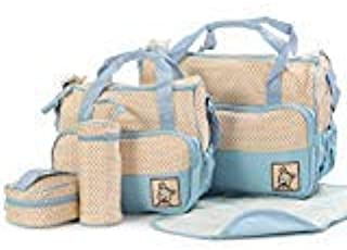 5PCS Mummy Bag multifunctional baby bag Yao cloth myb11-blue