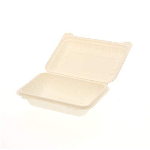個人宅配送不可 50枚 食品容器 コーンスターチパック IDFP-50 196 × 140 × 高57mm テイクアウト ケータリング イベント アウトドア デリバリ Sモ 代不