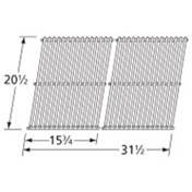 Music City Metals 59S02 Stainless Steel Wire Cooking Grid Replacement for Gas Grill Models Charmglow 810-8905-S and Charmglow 810-8907-S, Set of 2