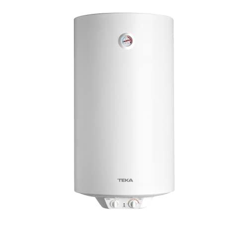Teka 42080100 Termo Eléctrico   1500 W   100 L   Blanco   Clase de eficiencia energética C   Modelo Ewh100   Tanque esmaltado   Temperatura 30-75º, Cerámica