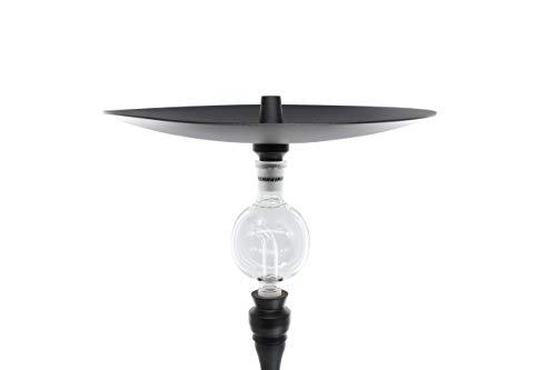 Shisha King® Adapter für Molassefänger mit 18/8 Schliff | Molassefänger Erweiterung | Wasserpfeife Zubehör (schwarz)