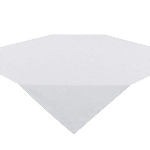 Tischdecke Wien, weiß, 85x85 cm, Fleckschutz, Mitteldecke für das ganze Jahr