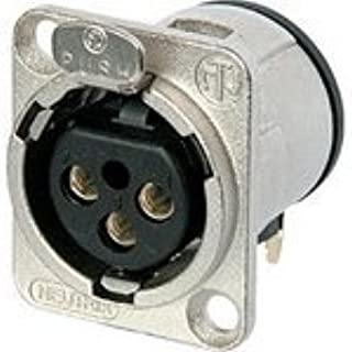 NC3FD-H, 3 Pole Female Receptacle, Horizontal PCB Mount, Nickel housing, Silver Contacts (5 Items)