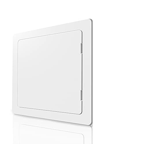 Access Panel for Drywall - 12x12 inch - Wall Hole Cover - Access Door - Plumbing Access Panel for Drywall - Heavy Durable Plastic White