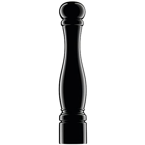 WMF Salz und Pfeffermühle, unbefüllt Holz lackiert Keramikmahlwerk, H 40 cm, schwarz