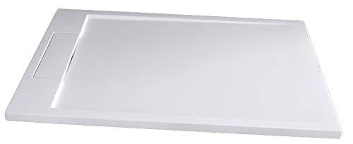 Bernstein Badshop Duschtasse rechteckig Mineralguss-Duschwanne M2290CW / PB3085G - Weiß glänzend - 120x90x3,5cm