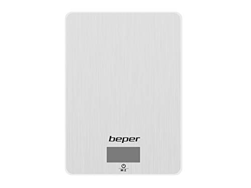 BEPER 90.131 Balanza Cocina digital, 5 kg, Stainless Steel
