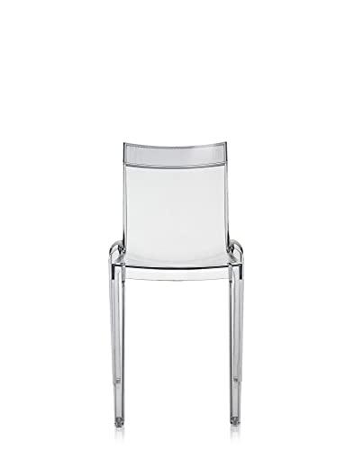 Kartell Hi Cut Silla, Trasparente/Cristal, 46 x 55 x 84 cm, 2 Unidades