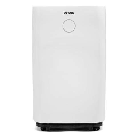 Devola 20L Low Noise Compressor Dehumidifier with HEPA Filter, Perfect for Moisture, Damp & Condensation In Indoors, Homes, Bedrooms, Kitchens, Garages, Basements, Offices (20 Litre)