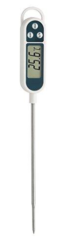 TFA Dostmann Digitales Einstich-Thermometer, vielseitig nutzbar (Bratenthermometer, Baybnahrung, Weinthermometer), langem Einstichfühler, ideal auch für Profi-Einsatz